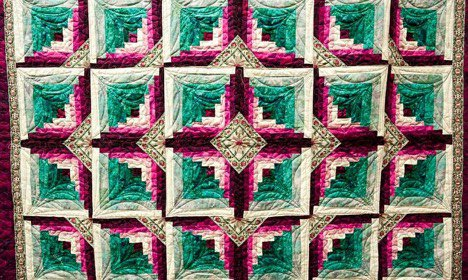 Colorful quilt from the Black Threads Collective.