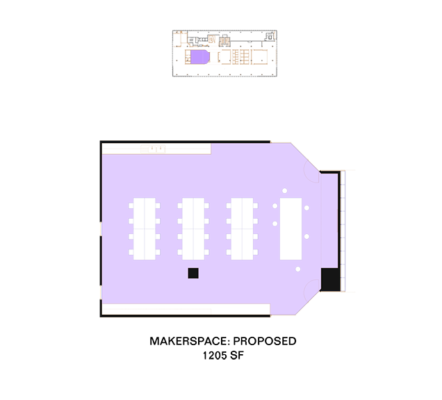 Plans for the proposed Makerspace.